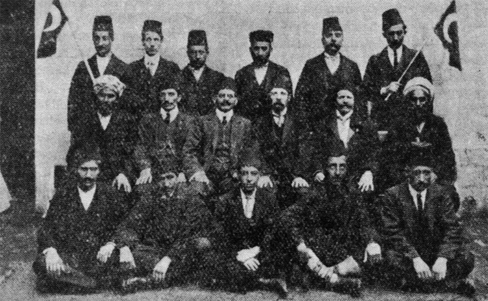 A group photo of members of the Liverpool Muslim Institute 1905