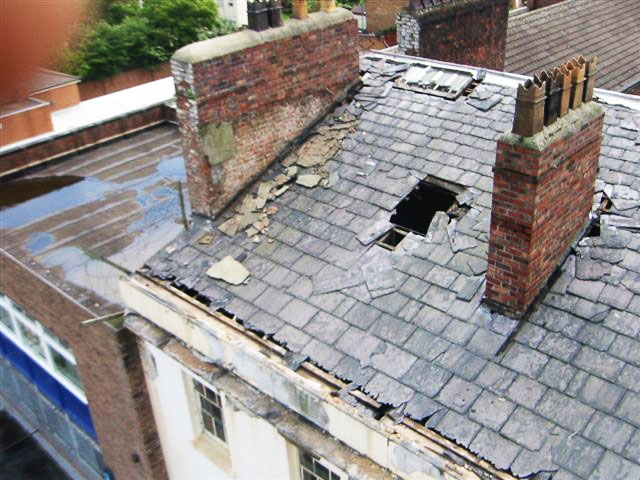 Repairs to roof