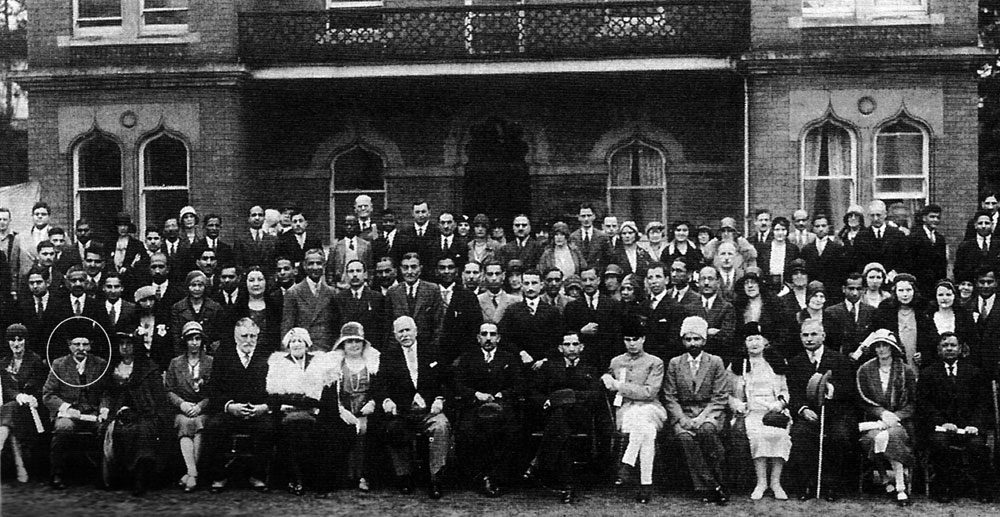 Henri de Leon (Abdullah Quilliam) at a reception given at the Shah Jehan Mosque, Woking in 1931