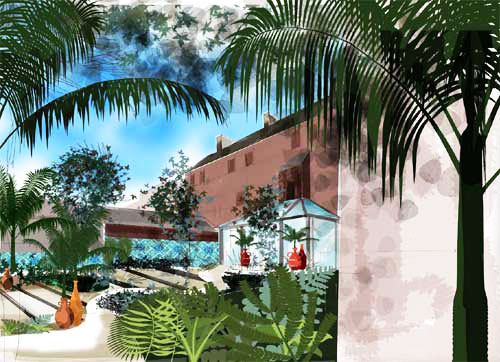 Concept visual - Abdullah Quilliam Heritage Centre | ISLAMIC COURTYARD GARDEN & CAFE