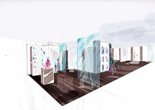 Concept visual - Abdullah Quilliam Heritage Centre | Shop and view through to display area