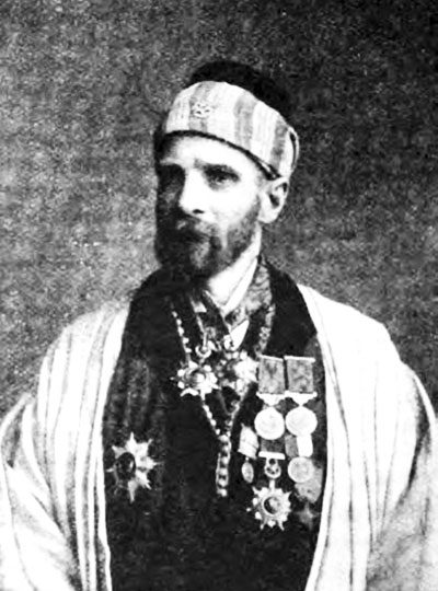 """In Service of the Sultan"", and published in Wide World Magazine, vol. 17 (June 1906): p. 223"