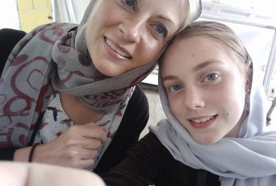 Christina and Ruby in AQ Mosque