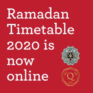 Ramadan Timetable